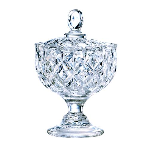 Bomboniere em cristal ecológico com pé 24cm L'HERMITAGE
