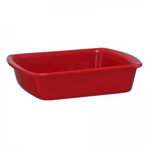 Assadeira Retangular Vermelha 18x23cm mondoCeram