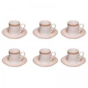 JOGO COM 6 XÍCARAS DE CAFE VERA