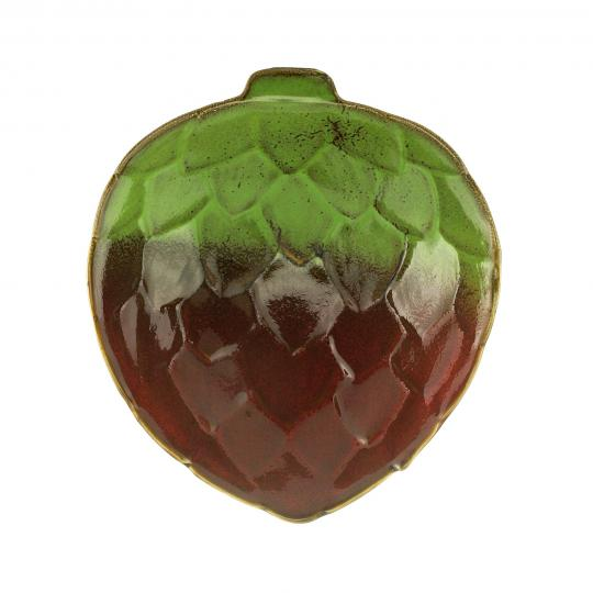 bowl folha cerâmica verde