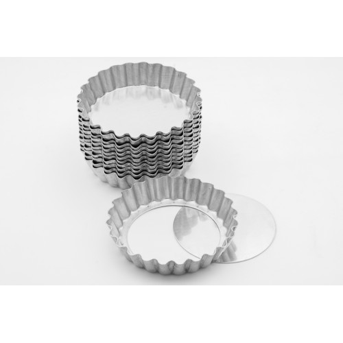 formas em alumínio para torta de maça crespa fundo falso 5 cm