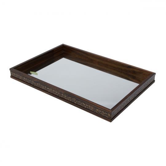 bandeja espelhada coquinho 51x35x4,5 woodart
