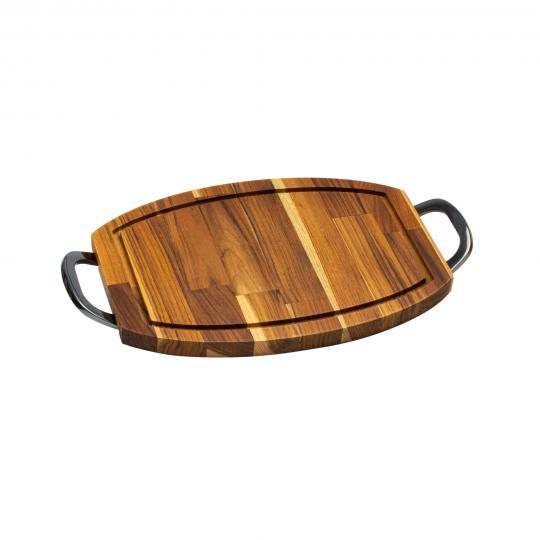 tabua oval em madeira alça queens 38x21cm woodart