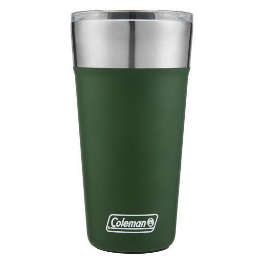 copo térmico inox com tampa 590ml verde coleman