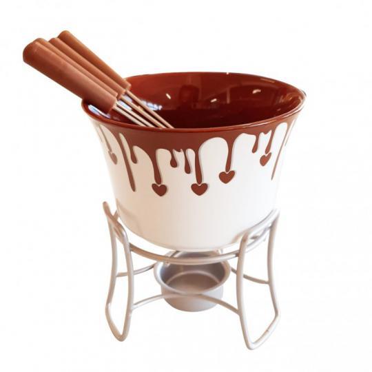 jogo para fondue 6 peças brinox /,