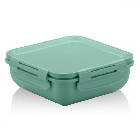 marmita hermética quadrada verde ou