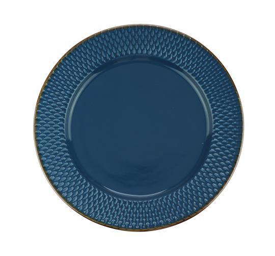 jogo 6 pratos rasos drops azul wolff