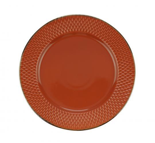 jogo 6 pratos rasos drops laranja wolff