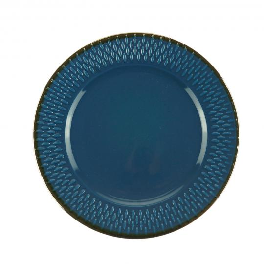 jogo 6 pratos sobremesa drops azul wolff