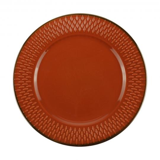 jogo 6 pratos sobremesa drops laranja wolff