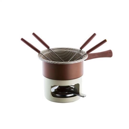 fondue antiaderente para chocolate forma