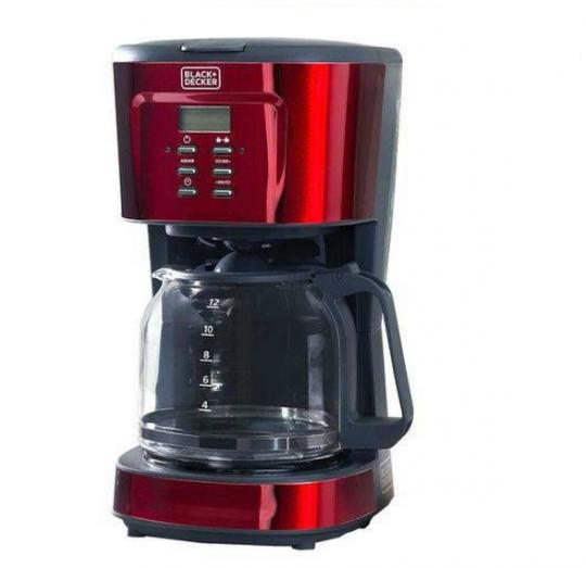 cafeteira elétrica programável 1.5 l vermelha 127v cmp b&d