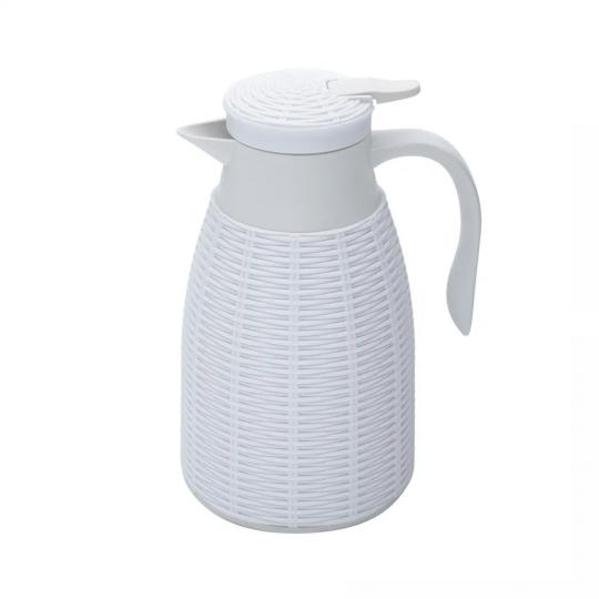 garrafa térmica  rattan plastica branca 1l lyor