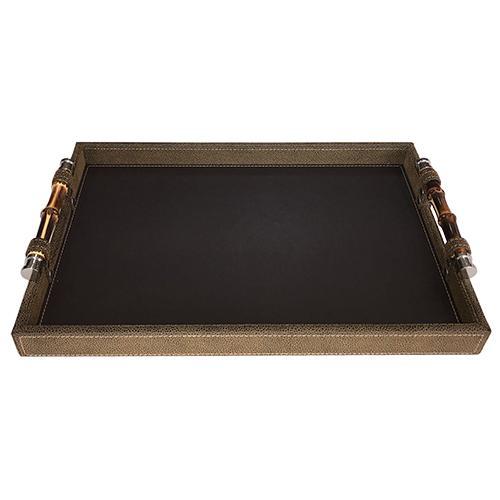 bandeja bambu marrom 40x30 dynasty