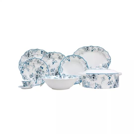 aparelho de jantar e chá 34 peças pauli blue lhermitage