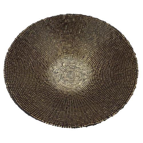 centro mesa dourado escuro 33cm lhermitage