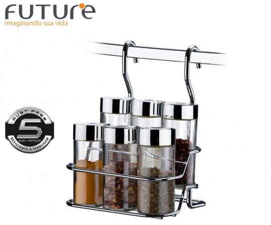 suporte de condimentos com 7 peças future