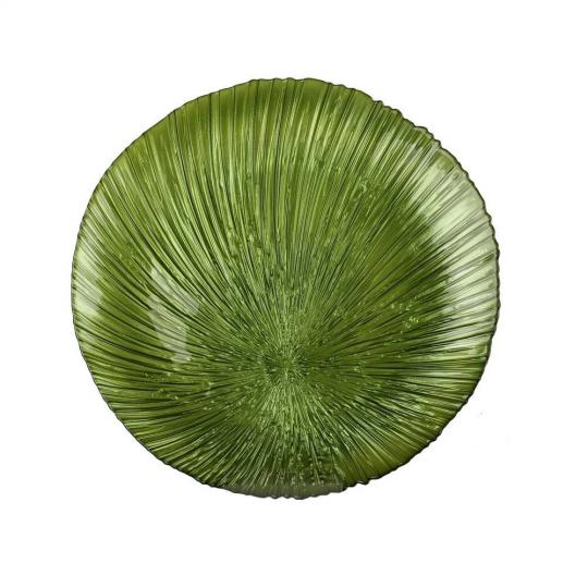 jogo de 4 sousplat folhagem verde 33cm dynasty