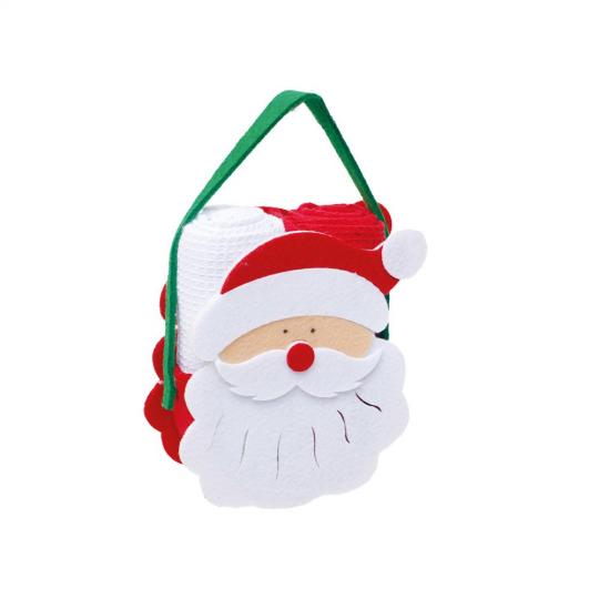 bolsa noel 2 toalhas branca e vermelha natal