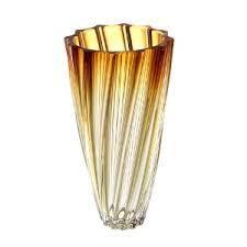 vaso scallop ambar  bohemia