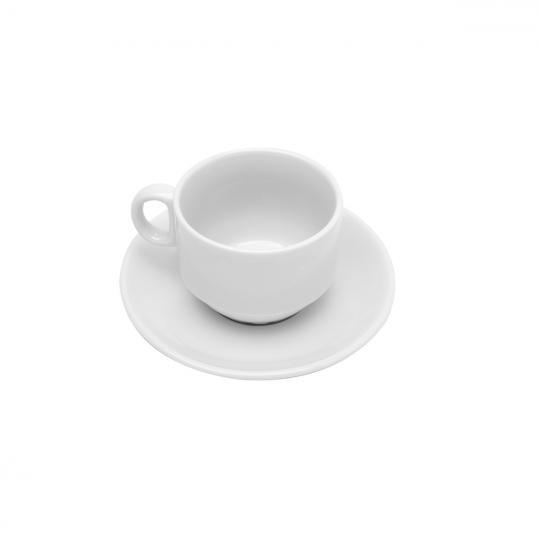 jogo de 6 xícaras de café de porcelana branca