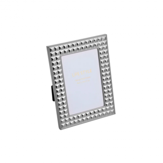porta retrato diamond prata 10x15 cm prestige