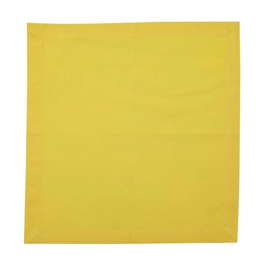 jogo de 6 guardanapo algodão amarelo 40 cm bon gourmet