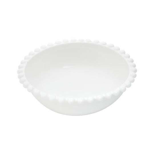 bowl de porcelana branca 23x9 bon gourmet