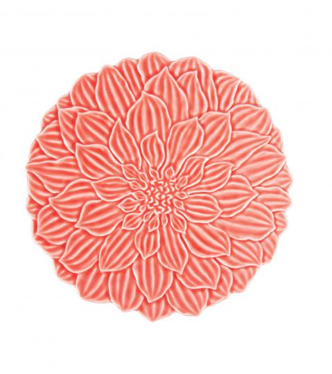 jogo 6 pratos rasos daisy coral wolff