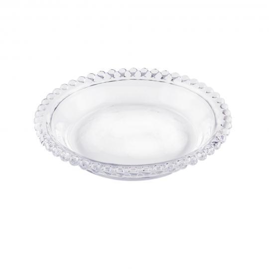 jogo com 4 mini pratos pearl em cristal wolff