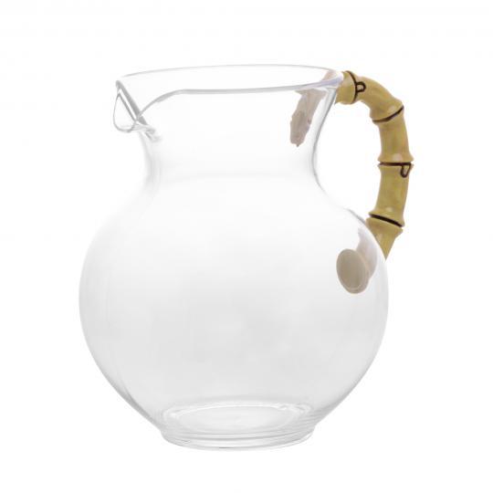 jarra em acrílico com alça imitação de bambu 3l bon gourmet