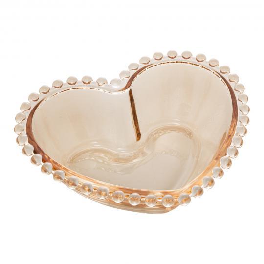 bowl coração pearl âmbar 19x15 cm wolff