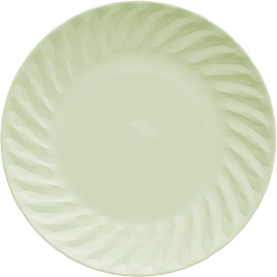 jogo de 6 pratos rasos tangram verde germer