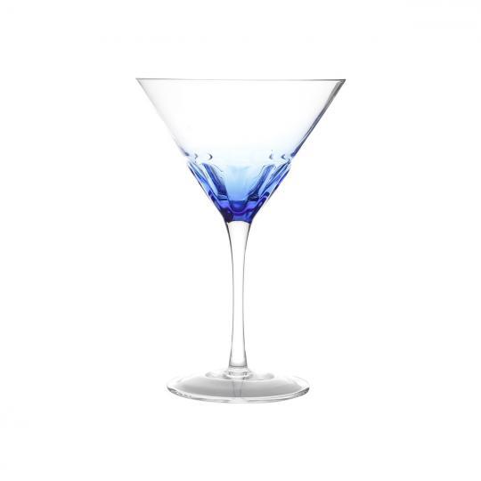 jogo 4 taças martini craque azul 210ml bon gourmet