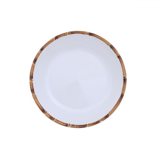 jogo 6 pratos sobremesa bambu scalla