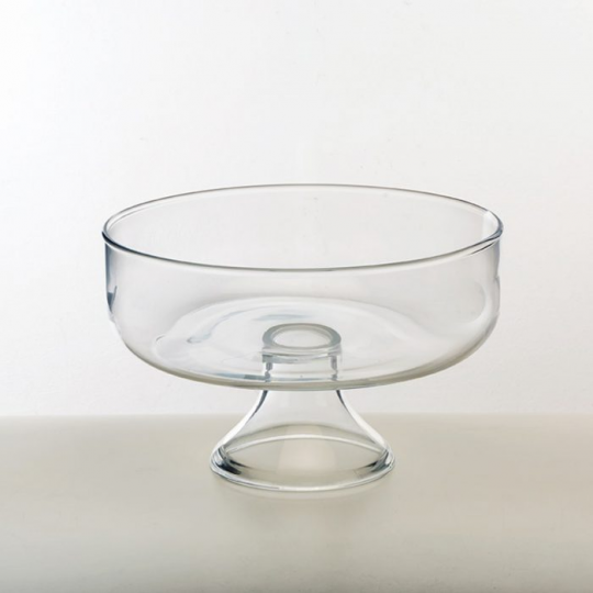 centro de mesa em vidro 24,5x16cm  luvidarte