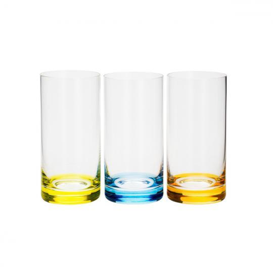 jogo 6 copos long set-bar color 380ml bohemia