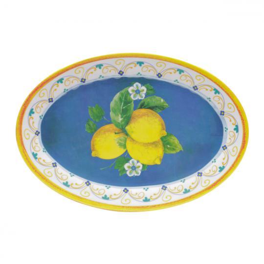 travessa lemons oval de melamina 51x36
