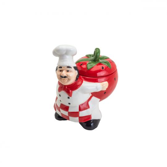 pote de cerâmica fat cheff tomato bon gourmet