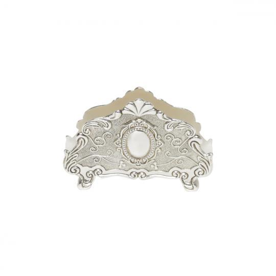 porta guardanapos em zamac prata