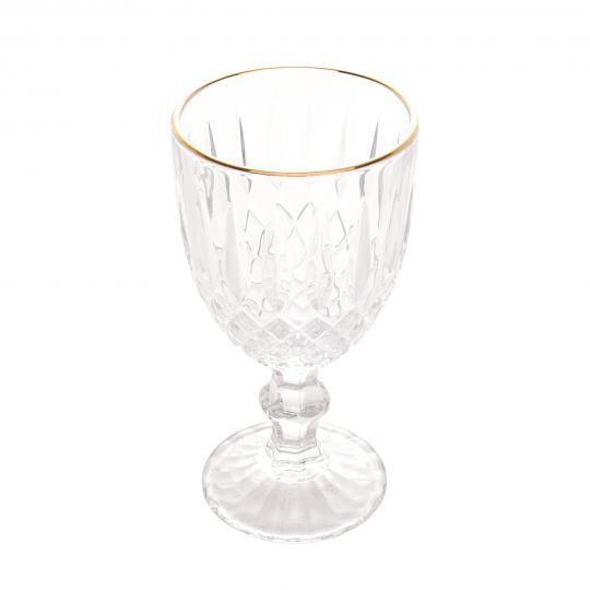 jogo de 6 taças greek fio ouro 345ml bon gourmet