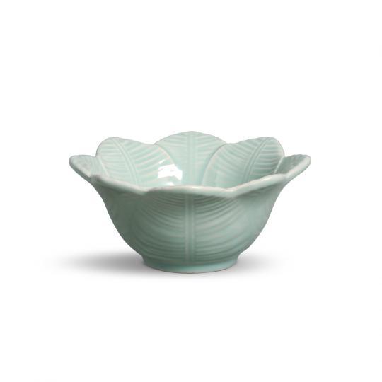 jogo 6 bowls leaves verde claro  porto brasil