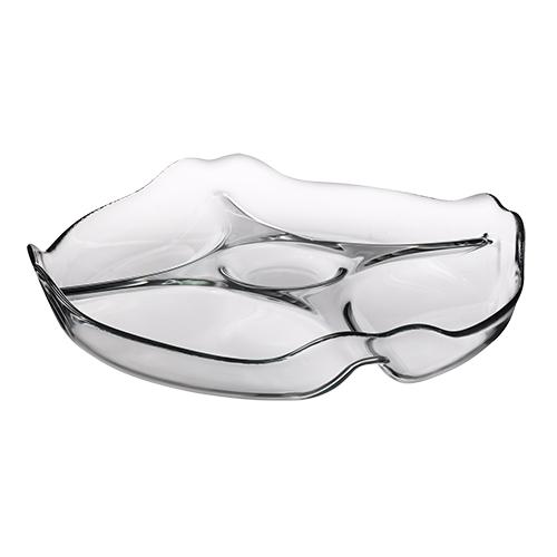 petisqueira redonda de vidro 25x4 pasabahce