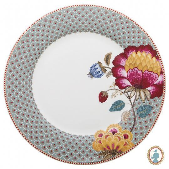 prato raso floral fantasy azul unitário pip studio