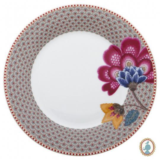 prato sobremesa floral fantasy caqui unitário pip studio