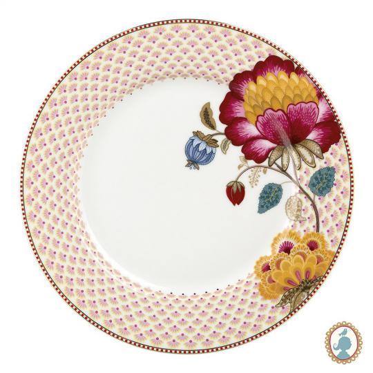 prato raso floral fantasy branco unitário pip studio
