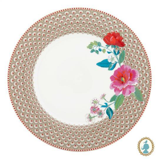 prato raso floral rose caqui unitário pip studio
