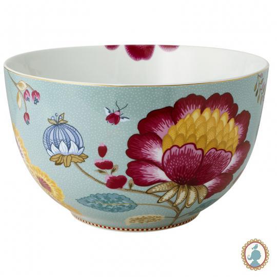 tigela floral fantasy azul 23cm pip studio