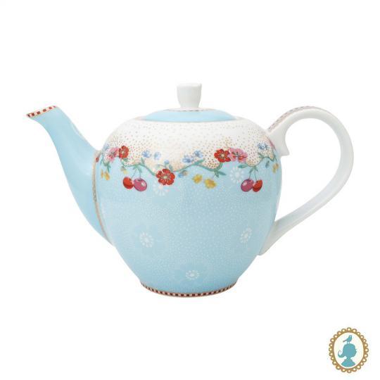 bule pequeno floral cherry azul 750 ml pip studio