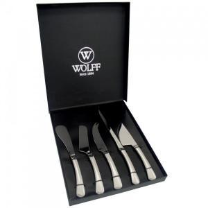 jogo com 5 facas para queijo wolff